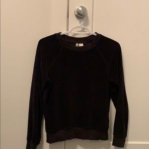 Divided Sweaters - Black Velour Sweater